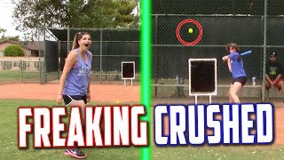 Download MY GIRLFRIEND HIT THE LONGEST HOME RUN EVER! Blitzball Wiffle Ball Tournament | Game 2 Video