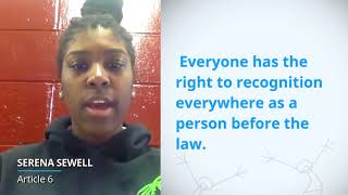 Download UDHR Video Article 6 English serena sewell Video