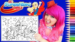 Download Coloring DC Super Hero Girls Supergirl, Batgirl, Wonder Woman Prismacolor Pencils | KiMMi THE CLOWN Video