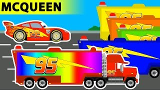 Download Learn Colors with Disney Pixar Mack Trucks and Disney Cars Lightning McQueen Cars 3 - Video for Kids Video