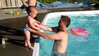 Download water baby pool jumping Video