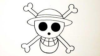 Download สัญลักษณ์ กลุ่มโจรสลัดหมวกฟาง จาก การ์ตูน วันพีช   วาดการ์ตูน กันเถอะ Video