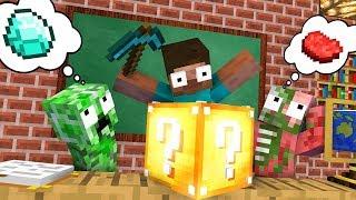 Download Monster School : LUCKY BLOCK Challenge - Minecraft Animation Video