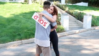 Download SURPRISING BOYFRIEND WITH OUR DREAM HOUSE PRANK!!! (HE CRIES) Video