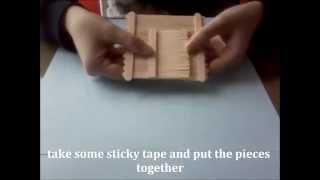 Download DIY - Popsicle stick house - Κατασκευή: Σπίτι με ξυλάκια παγωτού Video