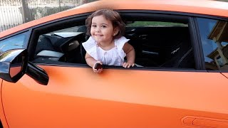 Download BABY DRIVES LAMBO!!! (THE FIRST BABY DRIVER) Video