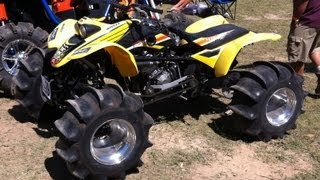 Download 4x4 400EX WALKS ON WATER 600EX! Awesome Skimming! CBR600RR Engine on ATV! Hydroplaning Quad!!! Video