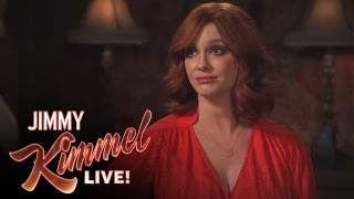 Download 3 Ridiculous Questions with Jimmy Kimmel and Christina Hendricks Video
