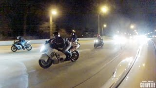 Download 1200hp Porsche Destroys a Pack of Motorcycles Video