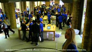 Download Inside Apple's Covent Garden store on launch day during the very first hour it opened. Video