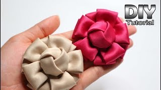Download DIY - Tutorial Fabric Flower Satin Velvet | Bunga Hanna | Cara membuat bros bunga kain Patchwork Video