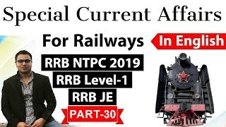 Download Railway NTPC 2019 Current Affairs in ENGLISH Set 30 for RRB NTPC, RRB JE RRB Level 1 exam #RRB #NTPC Video