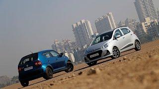 Download Maruti Ignis vs Hyundai Grand i10 | Comparison Review | ZigWheels Video