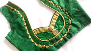 Download very beautiful neck design with Anchor thread cutting and stitching Video