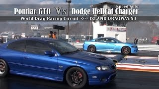 Download HellCat Charger vs Pontiac GTO @ World Drag Racing Circuit Video