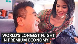 Download World's LONGEST FLIGHT in Premium ECONOMY on Singapore Airlines Video