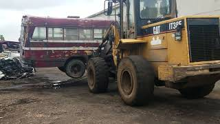 Download How to crush an old school bus at our salvage yard, part#1 Video