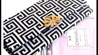 Download {DIY} Fabric and Cardboard Clutch Video
