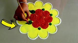Download Diwali Best satisfying rangoli video/small and easy rangoli design 2019 Video