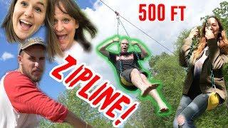 Download CRAZY HOME MADE 500FT ZIPLINE! Video