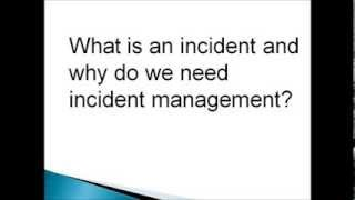 Download Incident Management and it's key activities Video