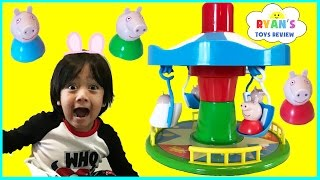 Download PEPPA PIG MERRY GO ROUND GAME for Kids Fairground Ride Egg Surprise Toys Family Fun Game Night Video
