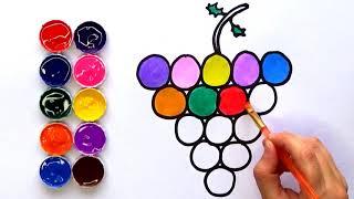 Download Dibujar y Colorear Uvas de Colores | Dibujos para Niños Amiguitos123 Video