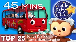 Download Wheels On The Bus + Bath Song + Ten Little Buses + More | Top 25 Songs for Kids | By LittleBabyBum! Video