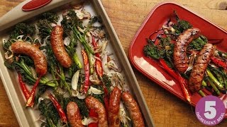 Download Roast Broccolini or Broccoli Rabe with Sausages Video