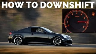 Download G35 / 350z - How to DOWNSHIFT, REV MATCH and HEEL TOE Video