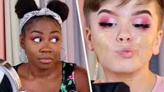 Download Teen YouTuber Vs. Adult Makeup Challenge Video