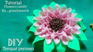 Download DIY76 | Membuat tempat permen bentuk bunga dari kain flanel | Tutorial flowers candy | grieaksesoris Video