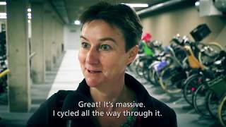Download The largest bicycle storage facility in the world opened in Utrecht (NL) Video