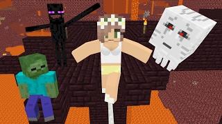 Download Monster School: Slackline Challenge - Minecraft Animation Video