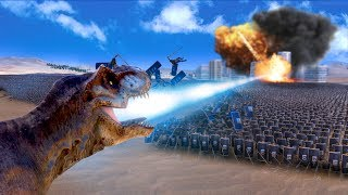 Download DINOSAUR LASER PARTY! | Ultimate Epic Battle Simulator HD Video