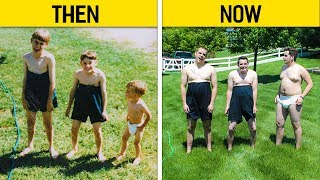 Download Siblings Who Hilariously Recreated Their Childhood Photos Video