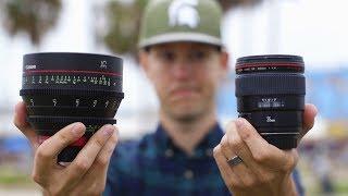 Download $1,000 Lens vs $4,000 Lens — Are Cinema Lenses Worth It? Video