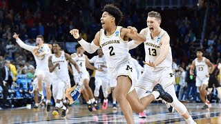 Download Houston vs. Michigan: Jordan Poole shot beats the buzzer for the win! Video