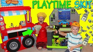 Download We Opened a Hot Dog Stand! Earning Real Money! Video