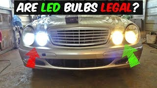 Download ARE LED HEADLIGHT BULBS LEGAL TO USE Video