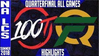 Download 100 vs FLY Highlights ALL GAMES | NA LCS Playoffs Quarter-final Summer 2018 | 100 Thieves v FlyQuest Video