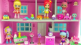 Download Shopkins Happy Places Shoppies Dolls + Kitty Dinner Party & Slumber Bear Party Petkins Blind Bags Video