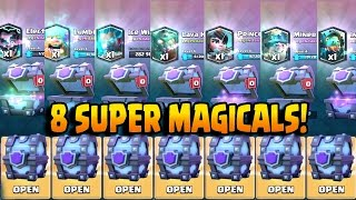 Download OPENING ALL SUPER MAGICAL CHESTS! Clash Royale BEST LEGENDARY CARDS CHEST OPENING!! Video
