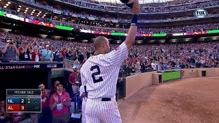 Download Derek Jeter gets two hits in final All-Star Game in 2014 Video