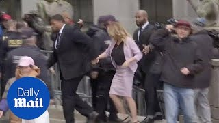 Download Stormy Daniels Arrives at Courthouse for Trump lawyer hearing - Daily Mail Video