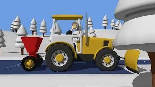 Download Tractor fairy tale for Kids and Snow | Winter | Traktorek Dla Dzieci - Na Ratunek Autku Video