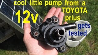 Download Amazingly powerful 12volt water pump from a Toyota Prius ● test to 12v and solar Video