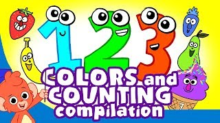 Download Learn Colors and Numbers   Counting and Colors for Kids compilation   Club Baboo Video