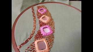 Download Hand Embroidery - Mirror Work Neck Design (Shisha Work Tutorial) Video