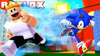 Download RUNNING FASTER THAN SONIC IN ROBLOX | Roblox Speed Simulator Video